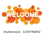 welcome banner letters with... | Shutterstock .eps vector #1254796852
