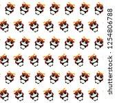 Постер Самурай панда шаблон стикер