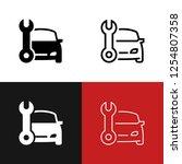 car service icon set | Shutterstock .eps vector #1254807358