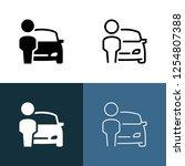car dealer icon set | Shutterstock .eps vector #1254807388