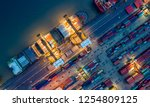 logistics and transportation of ... | Shutterstock . vector #1254809125