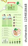 diet infographic with charts... | Shutterstock .eps vector #1254818668