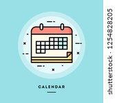 calendar  flat design thin line ...