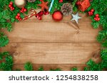 wooden background  christmas... | Shutterstock . vector #1254838258