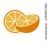 orange fruit half cut   Shutterstock .eps vector #1254847282