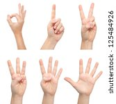 Isolated Woman Hands Show The...