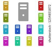 computer case icon in multi...