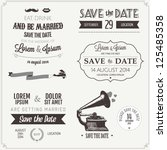 set of wedding invitation... | Shutterstock .eps vector #125485358