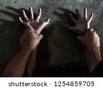 hands for rape and sexual abuse ... | Shutterstock . vector #1254859705