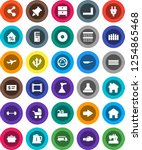 white solid icon set  plunger...   Shutterstock .eps vector #1254865468