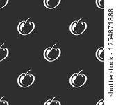 apple fruit leaf vector plain...   Shutterstock .eps vector #1254871888