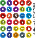 white solid icon set  pan...   Shutterstock .eps vector #1254874078
