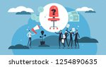 hiring vector illustration.... | Shutterstock .eps vector #1254890635