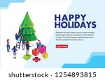 can use for web banner  info... | Shutterstock .eps vector #1254893815
