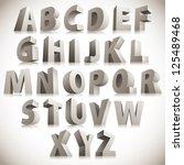 3d font  big white letters... | Shutterstock .eps vector #125489468