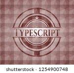 typescript red seamless badge... | Shutterstock .eps vector #1254900748