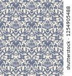 vintage seamless damask pattern.... | Shutterstock .eps vector #1254905488