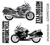 adventure touring motorcycle | Shutterstock .eps vector #1254907228