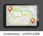 city map route navigation... | Shutterstock .eps vector #1254911308