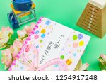 congratulatory gift image of... | Shutterstock . vector #1254917248