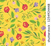 floral seamless background | Shutterstock . vector #1254924448
