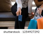 women are shopping in the... | Shutterstock . vector #1254927292