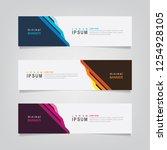 vector abstract web banner...   Shutterstock .eps vector #1254928105