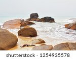 after the storm. the beach and... | Shutterstock . vector #1254935578