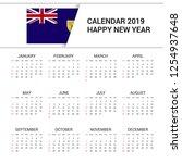 calendar 2019 turks and caicos... | Shutterstock .eps vector #1254937648