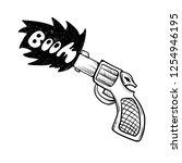 pistol hand draw sketch...   Shutterstock .eps vector #1254946195