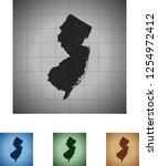 map of new jersey | Shutterstock .eps vector #1254972412
