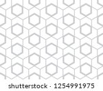 Stock vector the geometric pattern with lines seamless vector background white and grey texture graphic 1254991975