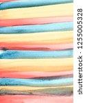Tricolor Striped Watercolor...