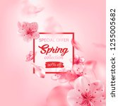 spring sale vector illustration ... | Shutterstock .eps vector #1255005682