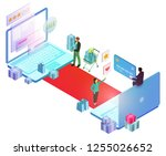 vector isometric composition... | Shutterstock .eps vector #1255026652