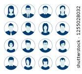user account avatar. user... | Shutterstock . vector #1255028032