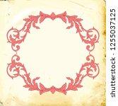 retro baroque decorations... | Shutterstock .eps vector #1255037125