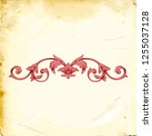 retro baroque decorations... | Shutterstock .eps vector #1255037128