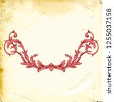 retro baroque decorations... | Shutterstock .eps vector #1255037158