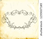 retro baroque decorations... | Shutterstock .eps vector #1255037185