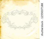 retro baroque decorations... | Shutterstock .eps vector #1255037188
