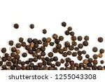 image of black pepper seeds on... | Shutterstock . vector #1255043308