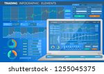 trading infographic elements | Shutterstock .eps vector #1255045375