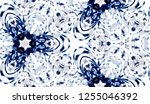 hand painted watercolor tie dye ... | Shutterstock . vector #1255046392
