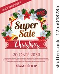 christmas super sale poster...   Shutterstock .eps vector #1255048285