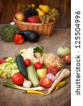 organic vegetables and fruits | Shutterstock . vector #125504996