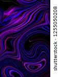 abstract dark purple glowing... | Shutterstock . vector #1255050208