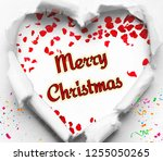 merry christmas wishes 2019 | Shutterstock . vector #1255050265