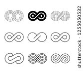 infinity vector design set | Shutterstock .eps vector #1255050532