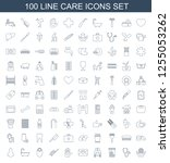 care icons. trendy 100 care... | Shutterstock .eps vector #1255053262